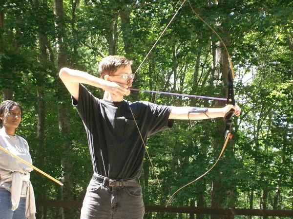 My first year, instructing archery. Staff training, ie. first year of the summer, i.e. no beard.