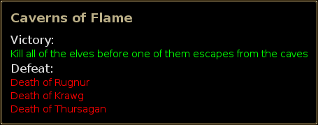final objective of Caverns of Flame