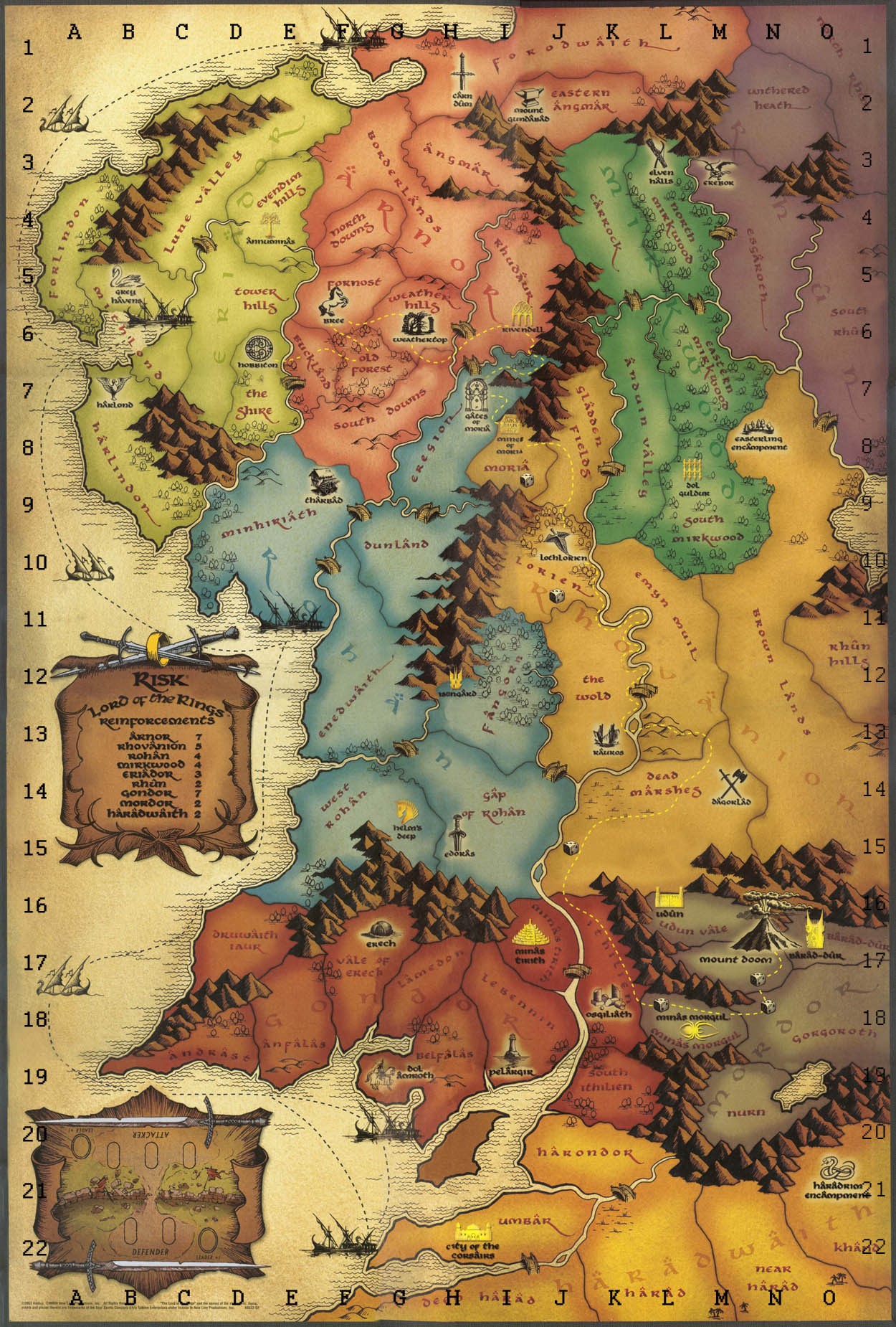 Middle Earth map 75x90 hexagons   The Battle for Wesnoth Forums