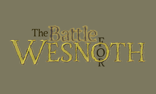 wesnoth logo using Servus Text Display font