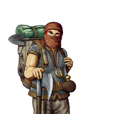 Dwarven Stranger or Bandit - its a Frank based on the Explorer Portrait - I used it for a disguised dwarven girl