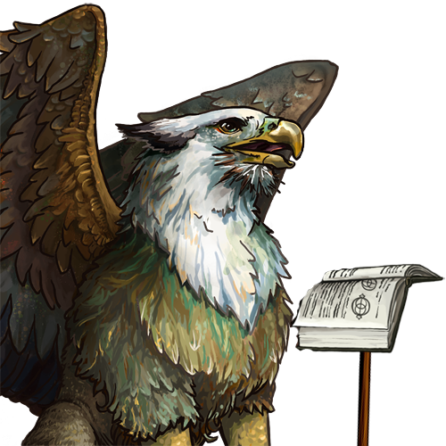the nerdiest gryphon ever