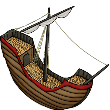 Ship with some (overcontrasted) shading