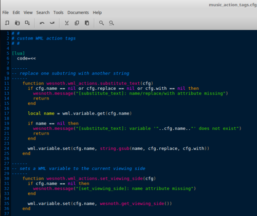 WML Syntax Highlighting for various editors index - The