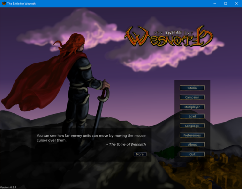 Battle for Wesnoth 0.9.7 on Windows 10