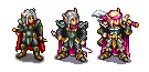Comparison between the current sprite, my try at redoing it and Jetrel's Champion