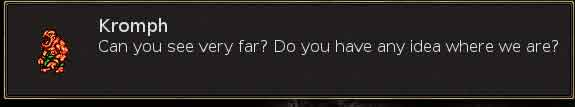 Should a golem really have dialogue like this?  Seems like it should be on an elf.